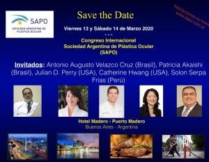 Congreso Internacional - Sociedad Argentina de Plástica Ocular @ Hotel Madero